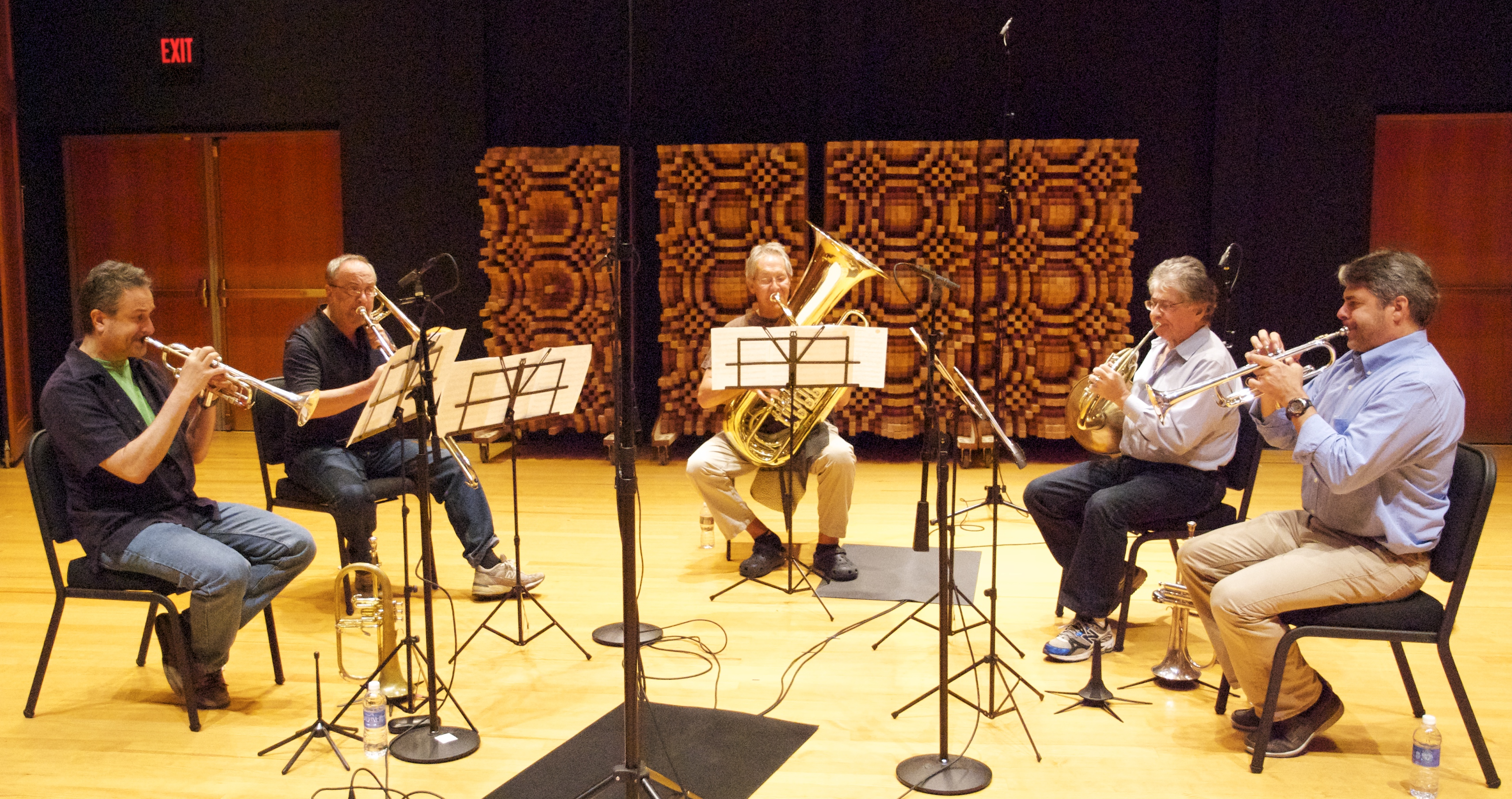 Dave Sampson recording session